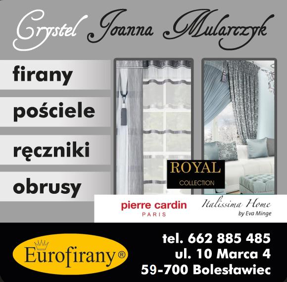 Crystel Joanna Mularczyk Eurofirany Bolesławiec Firany